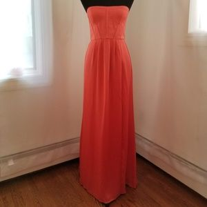 BCBGMAXAZRIA Coral Strapless Dress